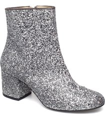 bootie - block heel - with zippe shoes boots ankle boots ankle boot - heel silver angulus