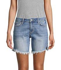 bermuda distressed denim shorts