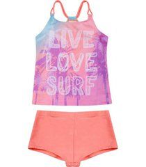 tankini teens uv30 degradé love y short h2o wear