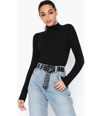 topshop knitted marl funnel neck top polotröjor