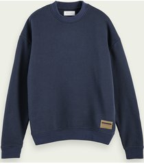 scotch & soda boxy fit sweater met hoge hals van gerecycled materiaal