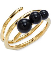 18k yellow gold & onyx bracelet
