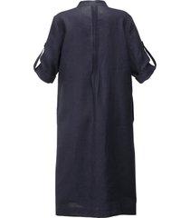 jurk 100% linnen van anna aura blauw