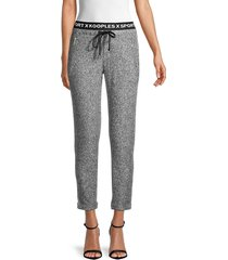 the kooples women's fleece jogger pants - grey - size 4 (xl)