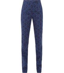 altea floral-jacquard trousers
