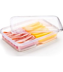 porta frios duplo de plástico incolor nitronplast 1,4l