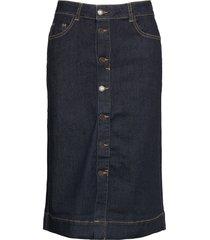 fqrock-sk-yoke knälång kjol blå free/quent