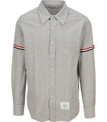 thom browne striped armband shirt