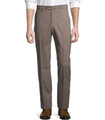 saks fifth avenue men's standard-fit houndstooth pants - summer red - size 40