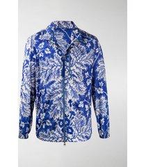 alexander mcqueen foliage print lightweight jacket