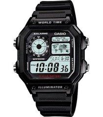 reloj casio ae_1200wh_1av negro resina
