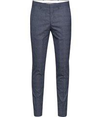 slhslim-mylobill blue check trs b noos kostuumbroek formele broek blauw selected homme