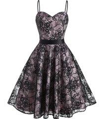 back zipper cami lace party dress