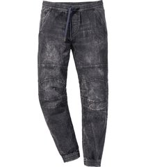 jeans con elastico in vita slim fit straight (nero) - rainbow