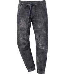 pantalone jogger in jeans regular fit straight (nero) - rainbow