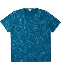 camiseta tradicional sustentável folhagem wee! azul claro - m