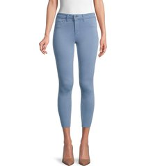 l'agence women's skinny raw-edge jeans - antique blue - size 30 (8-10)