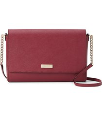 kate spade new york women's alek leather & faux leather crossbody bag - red