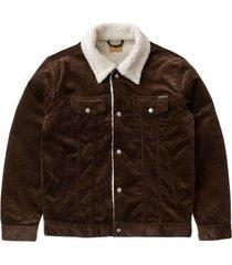 brown corduroy sherpa jacket in organic cotton - bonny jacket