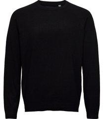 onsmikkel 12 soft crew raglan knit noos stickad tröja m. rund krage svart only & sons
