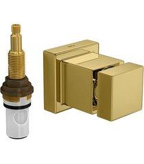 """acabamento de registro de pressão mvr cubo gold 3/4"""" - 4916.gl86.pq - deca - deca"""