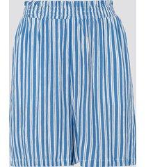 short med elastisk midja - blå