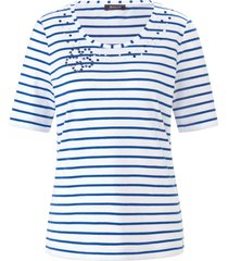 shirt ronde hals en korte mouwen van basler wit