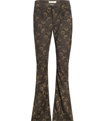 hally flared broek velours