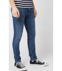 nudie jeans men's lin skinny jeans - dark blue navy - w32/l30