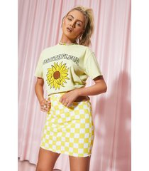 petite oversized fleur t-shirt, yellow