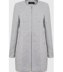 abrigo vero moda clara maris gris - calce regular