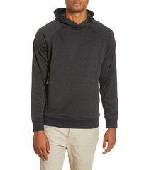men's hurley dri-fit salton performance pullover hoodie, size medium - black