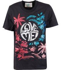 alberta ferretti tropical love me! print t-shirt