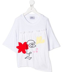 raspberry plum shani t-shirt - white