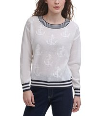 tommy hilfiger anchor jacquard sweater