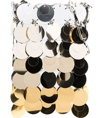 paco rabanne ombré sequinned mini shoulder bag - gold