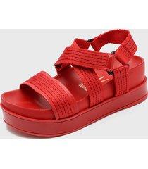 sandalia rojo vizzano