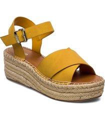 tineviel sandalette med klack espadrilles gul aldo