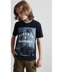 camiseta mini sm recreio e sagrado reserva mini preto - preto - menino - dafiti