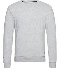 basic sweat sweat-shirt tröja grå tom tailor