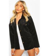 corduroy utility jas, black