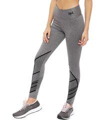 legging everlast long vip gris - calce ajustado