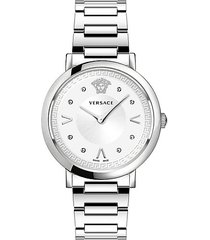 pop chic lady stainless steel analog bracelet watch