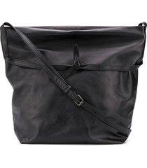 ann demeulemeester knotted strap shoulder bag - black