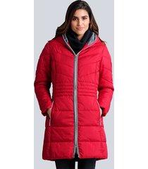 gewatteerde jas alba moda rood