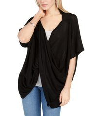 save the ocean recycled knit twist poncho