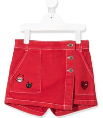 sonia rykiel enfant embroidered denim skort
