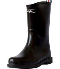 botas lluvia mediana yorq bottplie - negro matte