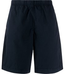 ps paul smith logo embroidered bermuda shorts - blue