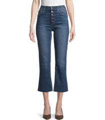 joe's jeans women's high-rise button kick flare jeans - caswell - size 32 (10-12)